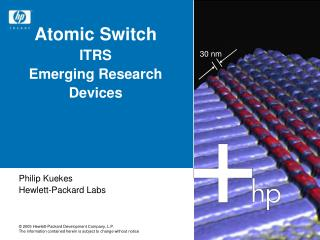 Atomic Switch ITRS Emerging Research Devices