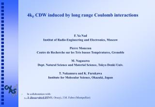 4k F  CDW induced by long range Coulomb interactions