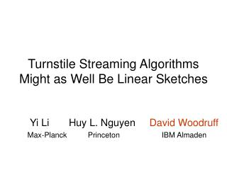 Turnstile Streaming Algorithms Might as Well Be Linear Sketches