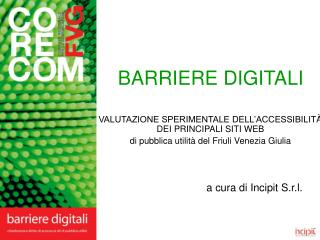 BARRIERE DIGITALI