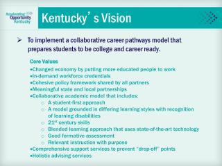 Kentucky � s Vision