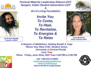 Feminist Majority Leadership Alliance-UCF, Sangam, Indian Student Association-UCF  &