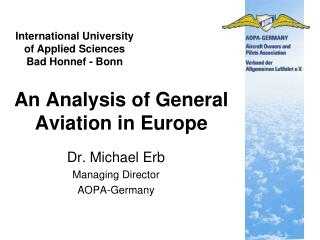 An Analysis of General Aviation in Europe