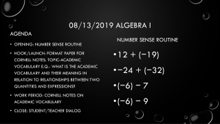 Monomials for beginning Algebra