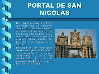PORTAL DE SAN NICOLÁS