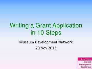 Writing a Grant Application  in 10 Steps