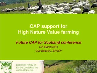 CAP support for  High Nature Value farming