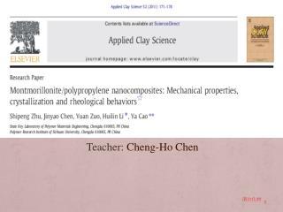 Teacher :  Cheng-Ho Chen