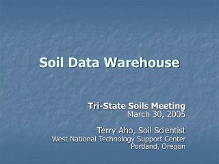 Soil Data Warehouse