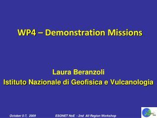 Laura Beranzoli Istituto Nazionale di Geofisica  e  Vulcanologia