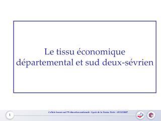 Le tissu économique départemental et sud deux-sévrien