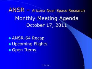 ANSR –  Arizona Near Space Research
