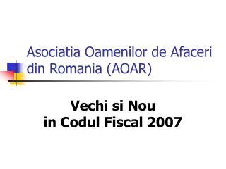 Asociatia Oamenilor de Afaceri din Romania (AOAR)