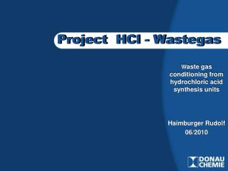 Project  HCl - Wastegas