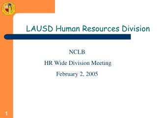 LAUSD Human Resources Division