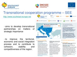 Transnational cooperation programme – SEE southeast-europe