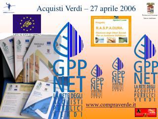 Acquisti Verdi � 27 aprile 2006