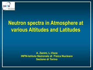 Neutron spectra in Atmosphere at various Altitudes and Latitudes