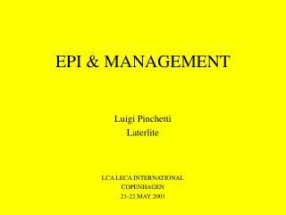 EPI & MANAGEMENT