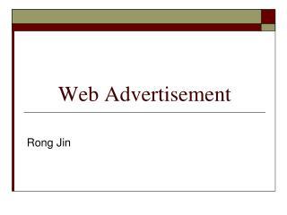 Web Advertisement