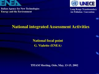 National integrated Assessment Activities