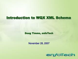 Introduction to WQX XML Schema
