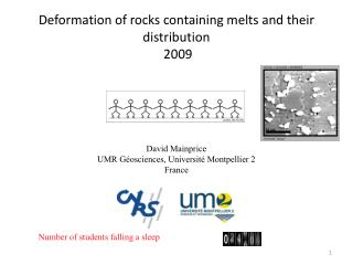 Deformation of rocks containing melts and their distribution  2009