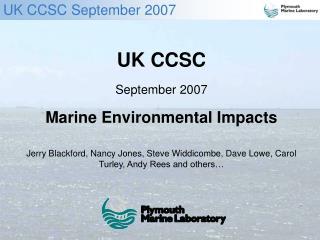 UK CCSC September 2007