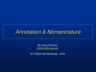 Annotation & Nomenclature