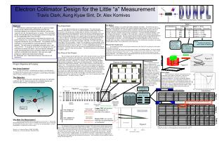 "Electron Collimator Design for the Little ""a"" Measurement"