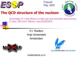 The QCD structure of the nucleon