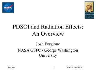 PDSOI and Radiation Effects:  An Overview