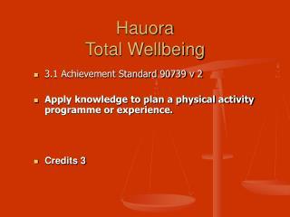 Hauora Total Wellbeing