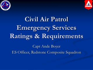 Civil Air Patrol Emergency Services Ratings & Requirements