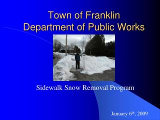 Town of Franklin  Department of Public Works