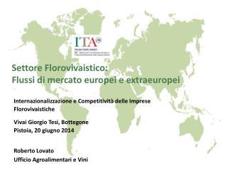Settore Florovivaistico: Flussi di mercato europei e extraeuropei