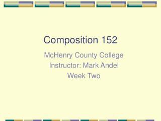 Composition 152