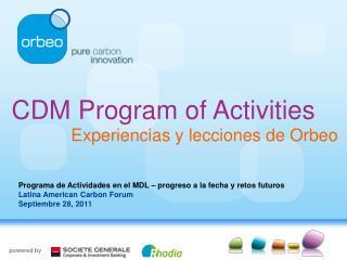 CDM Program of Activities