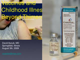 Vaccines and Childhood Illnesses: Beyond Thimerosal
