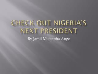 Check out Nigeria's Next President