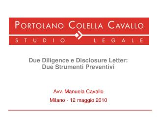 Due Diligence e Disclosure Letter:  Due Strumenti Preventivi