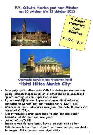 4 daagse stedentrip naar  München € 209,- p.p.