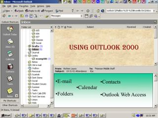 Intro - Outlook  Show Graphics of Outlook