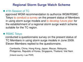 Regional Storm Surge Watch Scheme