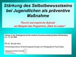 Vortrag vor der Arbeitsgemeinschaft L ndliche Erwachsenenbildung Baden-W rttemberg e.V., 13. Juli 2009  PD Dr. Arnold Hi