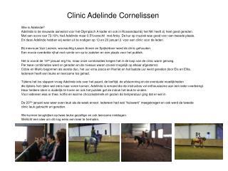 Clinic Adelinde Cornelissen