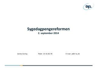 Sygedagpengereformen 2. september 2014