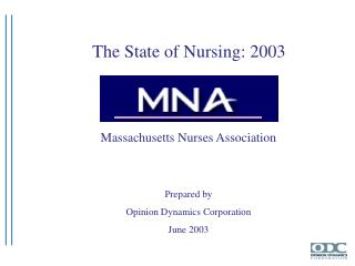 Massachusetts Nurses Association Prepared by Opinion Dynamics Corporation June 2003