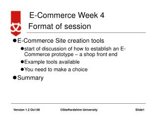 Creating an E-Commerce site