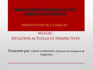 REUNION DU COMITE SCIENTIFIQUE DE L'ASEA NIAMEY 23-25 OCTOBRE 2013